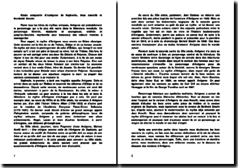 Etude comparée d'Antigone de Sophocle, Jean Anouilh et Berthold Brecht