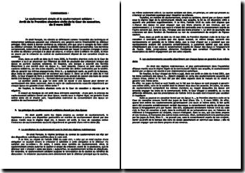 Arrêt de la Première chambre civile de la Cour de cassation, du 8 mars 2005 : le cautionnement simple et le cautionnement solidaire