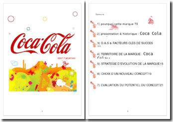 Dossier stratégique de la marque Coca Cola