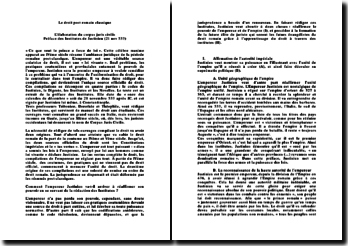 Le droit post romain classique: l'élaboration du corpus juris civilis
