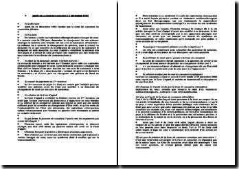 Cour de cassation, Assemblée plénière, 11 décembre 1992: la modification de l'Etat civil