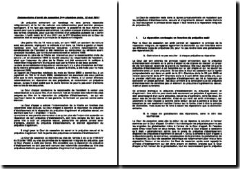 Cour de cassation, deuxième Chambre civile, 12 mai 2011: le principe de la réparation intégrale