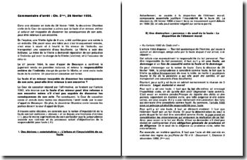 Cour de cassation, deuxième Chambre civile, 28 février 1996: la faute d'un mineur incapable de discerner les conséquences de son acte