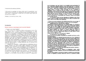 Introduction à la sociologie générale, cours de Jean-Patrice Lacam