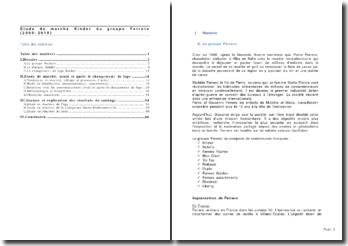 Etude du marché Kinder du groupe Ferrero (2009-2010)