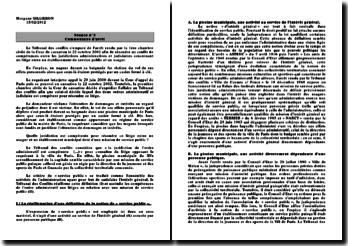 Cour de cassation, 1ère chambre civile, 22 octobre 2002, Tribunal des conflits: le conflit de compétence entre les juridictions administratives et judiciaires