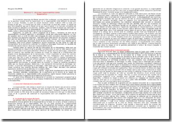 Quelle logique interne gouverne la responsabilité civile à l'égard de ses fondements et fonctions ?
