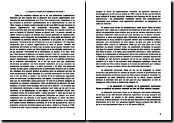 Le pouvoir normatif de la collectivité de Corse