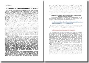 Comment s'organise la protection de la Constitution dans le système français ?