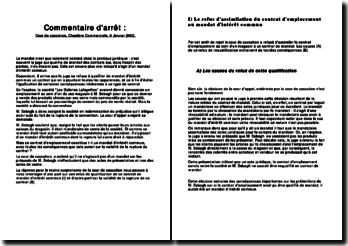 Cour de cassation, chambre Commerciale, 8 Janvier 2002: refus de qualification de contrat en mandat d'intérêt commun