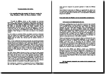 La supplication du peuple de France contre le Pape Boniface VIII - Pierre Dubois (1302): l'indépendance des rois par rapport à la papauté à l'aube du XIVème siècle
