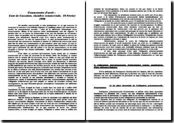 Cour de cassation, chambre commerciale, 10 février 1998: l'obligation précontractuelle d'information