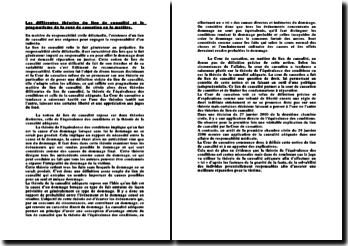 Les différentes théories du lien de causalité et le pragmatisme de la cour de cassation en matière de responsabilité civile délictuelle