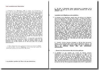 Les procédés qui permettent au chef de l'Etat de remplir les missions que lui confère l'article 5 de la Constitution ?