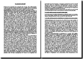 La place du pouvoir exécutif en droit pénal ou l'expression moderne du principe de séparation des pouvoirs