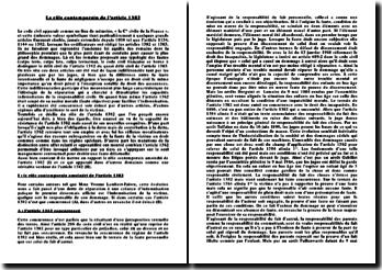 Le rôle contemporain de l'article 1382