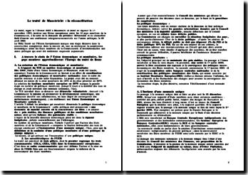 Le Traité de Maastricht : la réconciliation