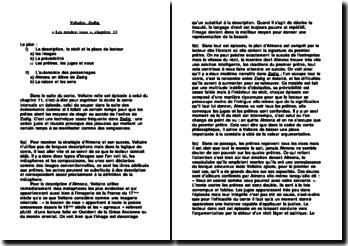 Zadig, « Les rendez-vous », chapitre 13 - Voltaire