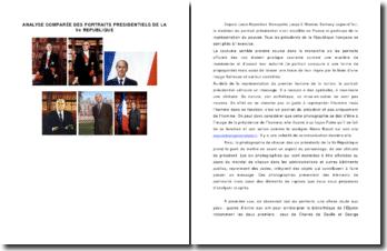 Analyse comparée des portraits présidentiels de la Ve République