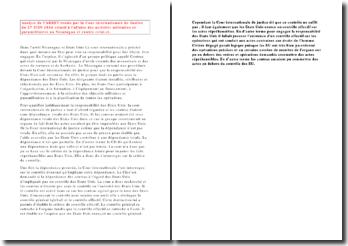 Cour Internationale de Justice, 27 Juin 1886: l'affaire des activités militaires et paramilitaires au Nicaragua et contre celui-ci