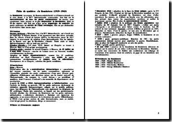 Le Komintern (1919-1943): une imposture mortelle