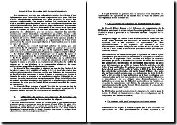 Conseil d'État, 20 octobre 2000, Société Citécable Est: l'annulation d'un contrat de concession