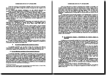 Cour de cassation, deuxième chambre civile, 28 mars 2002: l'acceptation des risques et de garde en commun