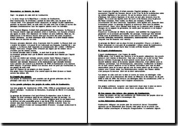 Les projets de Code civil de Cambacérès