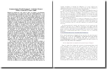 Commentaire comparé: Cour de cassation, 1ère Chambre civile, 10 mars 1998, 21 mars 2000: l'obligation de moyen