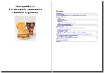 L'évolution de la consommation alimentaire avignonnaise