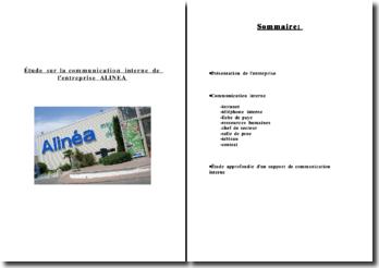 Étude sur la communication interne de l'entreprise Alinéa