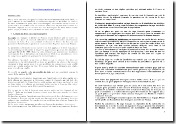 Droit international privé: historique, sources et méthodes de résolution des conflits