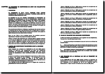 Le transfert de compétences de l'Etat aux collectivités territoriales