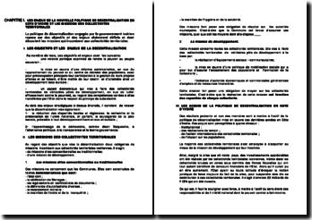 Les enjeux de la nouvelle politique de décentralisation en Cote d'Ivoire et les missions des collectivités territoriales