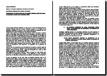 Cour de cassation, première Chambre civile, 1 décembre 2010: les contrats préparatoires au contrat commercial
