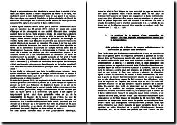 Cour de cassation, Chambre commerciale, 26 janvier 2010: la rupture du contrat à durée indéterminée