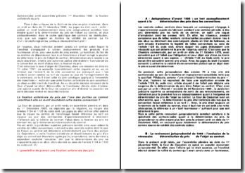 Commentaire arrêt assemblée plénière, 1er décembre 1995 : la fixation unilatérale du prix