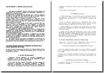 Cour de Cassation, 1ère chambre civile, 23 juin 2011 (plan détaillé)