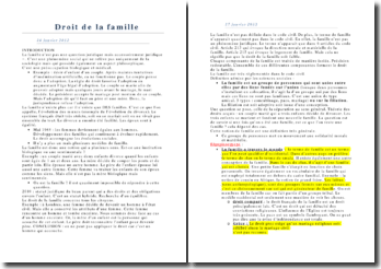 Droit de la famille: les unions du couple