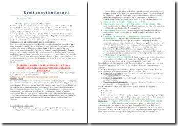 La situation de la Vème République dans la diversité des régimes politiques