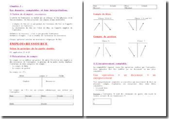 Les données comptables et leur interprétation