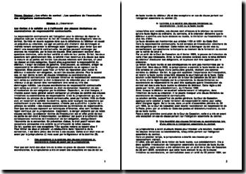 Les limites à la validité ou à l'efficacité des clauses limitatives ou exonératoires de responsabilité contractuelle