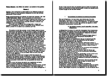 Projet gouvernemental de réforme du droit des contrats: l'article 136 modifié