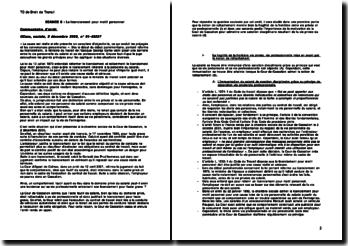 Cour de cassation, Chambre sociale, 2 décembre 2003: le licenciement pour motif personnel