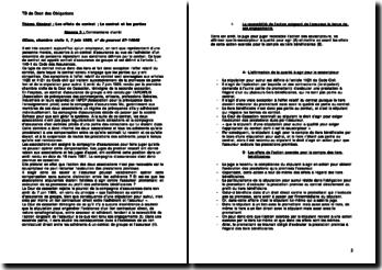 Cour de cassation, Chambre civile, 7 juin 1989: les effets du contrat