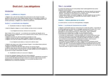 Les obligations : définition, contrat et faits juridiques
