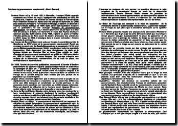 Principes du gouvernement représentatif - Manin Bernard