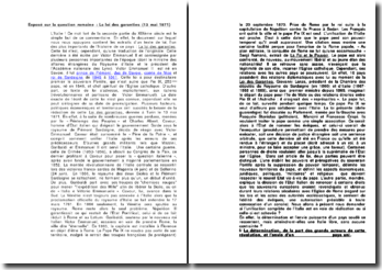 La question romaine : La loi des garanties (13 mai 1871)