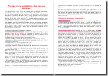 Principe de la prohibition des clauses léonines