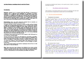 Les liens féodaux vassaliques dans le sud de la France